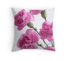 five pink carnations Throw Pillow