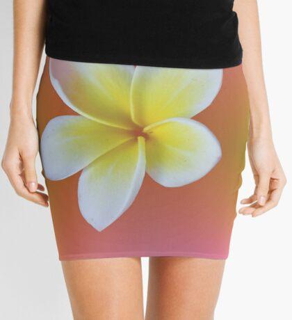 Tropical Rainbow Frangipani / Plumeria Mini Skirt