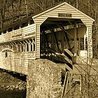 Valley Forge Covered Bridge by Monte Morton