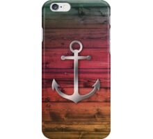 Colorful pattern with anchor iPhone Case/Skin