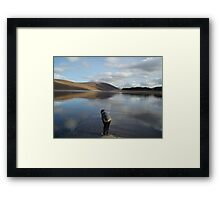 Looking for Loch Ness Monster age 8 Framed Print