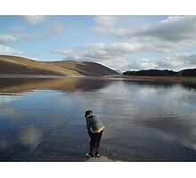Looking for Loch Ness Monster age 8 Photographic Print
