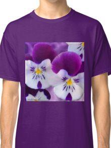 Purple Pansies Classic T-Shirt