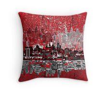 philadelphia skyline 3 Throw Pillow