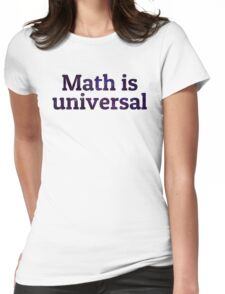 Math is universal galaxy Womens Fitted T-Shirt
