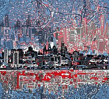 philadelphia skyline 4 by BekimART