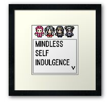 MINDLESS SELF INDULGENCE VIDEO GAME RETRO Framed Print