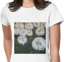 White agapanthus Womens Fitted T-Shirt