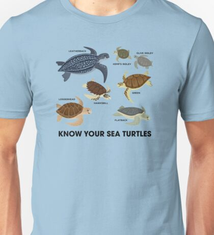 Know Your Sea Turtles Unisex T-Shirt