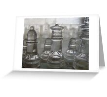 Transparent Moves Glass chess pieces Greeting Card