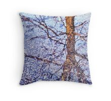 TreeWalker Fights His Way Through a Raging Blizzard!! Throw Pillow