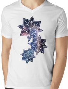 Papercut star cosmos Mens V-Neck T-Shirt