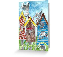 Neighbors working together  Greeting Card