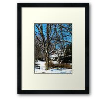 House on the Hill in Winter Framed Print