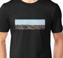 Linear Geometrical Buildings in NYC (Panorama) Unisex T-Shirt