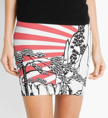 Japanese Landscape T Mini Skirt