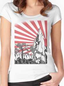 Japanese Landscape T Women's Fitted Scoop T-Shirt