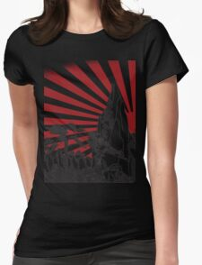 Japanese Landscape T Womens Fitted T-Shirt