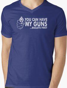 Bullets First Mens V-Neck T-Shirt