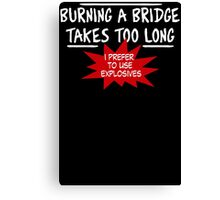 Burning Bridge Canvas Print