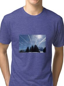 Winter scene Tri-blend T-Shirt