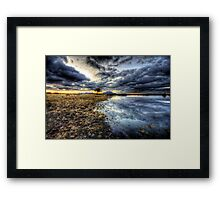 Willow Winter Clouds Framed Print