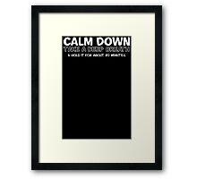 Calm Breath Framed Print