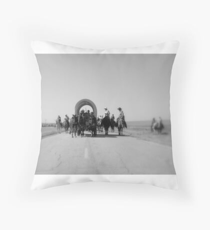 West Meets Highway Throw Pillow