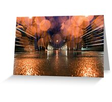 Bokeh Bridge Greeting Card