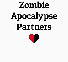 zombie apocalypse partners heart halves Womens Fitted T-Shirt