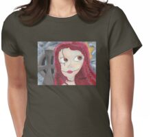 Girl in Graveyard Womens Fitted T-Shirt