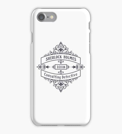 Consulting Detective (blue) iPhone Case/Skin