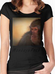 Monkeys Rock Women's Fitted Scoop T-Shirt