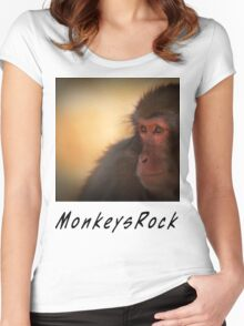 Monkeys Rock Women's Fitted Scoop T-Shirt