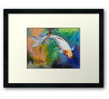 Koi Art Pirouette Framed Print