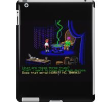 Asking about the Three Trials (Monkey Island 1) iPad Case/Skin