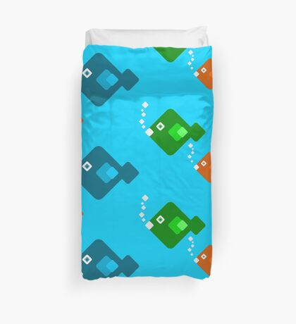 Bubbly Fishes Duvet Cover