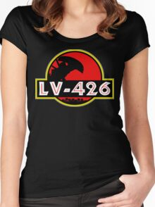 Xenomorph Park - LV 426.  Women's Fitted Scoop T-Shirt