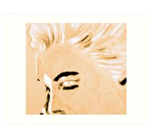 Marilyn Monroe detail portrait Art Print