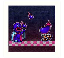 Eggplant Man Art Print