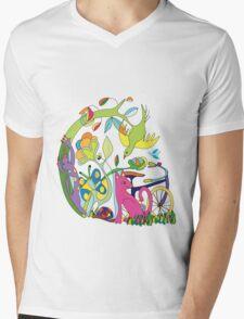 Garden of Earthly Bikes Mens V-Neck T-Shirt