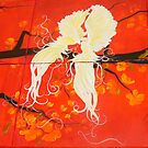 Orchid Birds in Cherry Blossom Season by DalunE Khoang