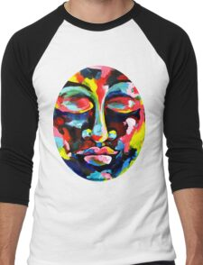 Color Full Face Men's Baseball ¾ T-Shirt