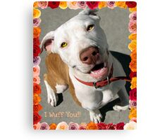 Canine Valentine Canvas Print