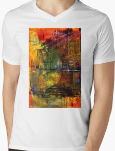 The House Jack Built in the Town Angela Imagined Mens V-Neck T-Shirt