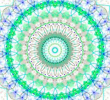 Spring Fresh mandala by Vicki Field