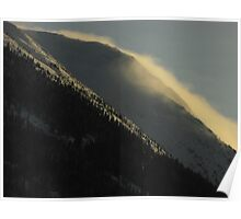 Mountain Windstorm Poster
