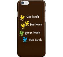 One Kweh Two Kweh Green Kweh Blue Kweh iPhone Case/Skin