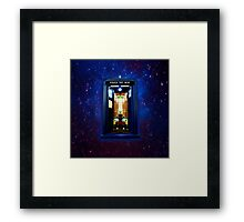 Space And Time traveller Box that More Bigger on the inside Framed Print