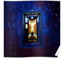 Space And Time traveller Box that More Bigger on the inside Poster